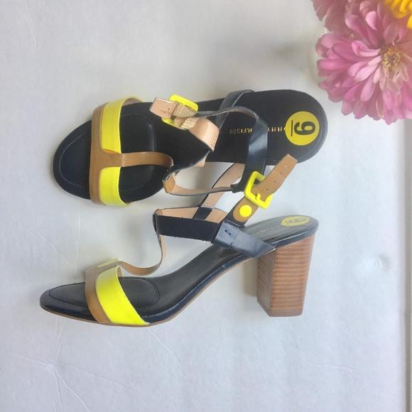 ebbd2691175795 SALE Tommy Hilfiger Neon Color Block Heels